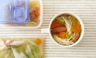 スープと冷凍したスープの写真