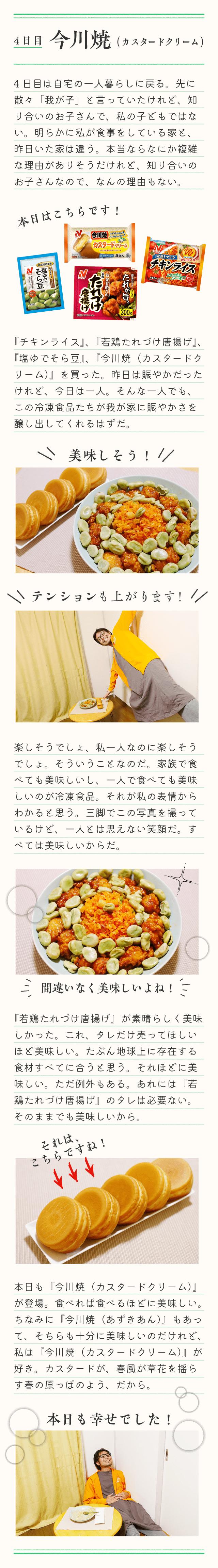冷凍食品生活4日目