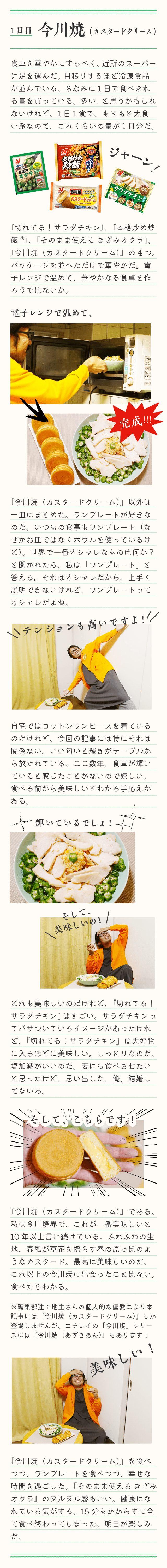 冷凍食品生活1日目