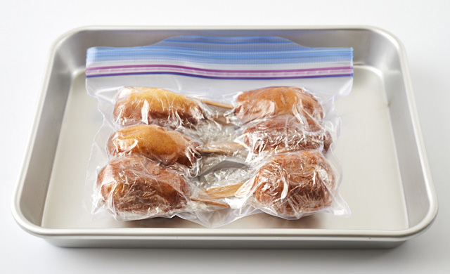 冷凍用保存袋に入れた写真