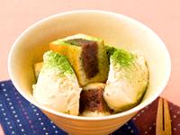 今川焼のアイスパフェ