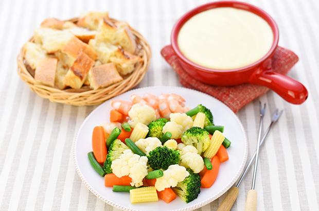 野菜たっぷりチーズフォンデュ