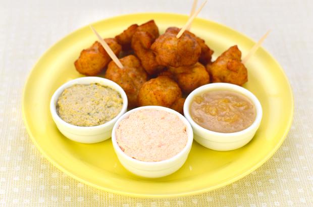 唐揚げディップ 海苔×クリームチーズ/明太×クリームチーズ/しょうが×りんご