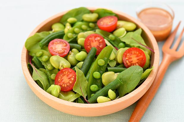 冷凍豆で作るグリーンビーンズサラダ冷凍豆で作るグリーンビーンズサラダ