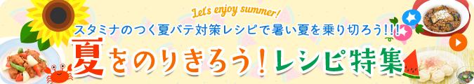 let's enjoy summer! スタミナのつく夏バテ対策レシピで暑い夏を乗り切ろう!!! 夏をのりきろう!レシピ特集